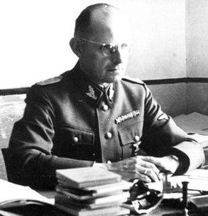 Karl-Gustav Sauberzweig - Karl-Gustav Sauberzweig as a SS-Oberführer