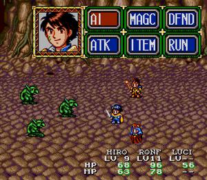 Lunar: Eternal Blue - Battle sequence screenshot
