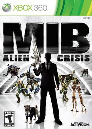 MIB: Alien Crisis - The Xbox360 cover of the game.