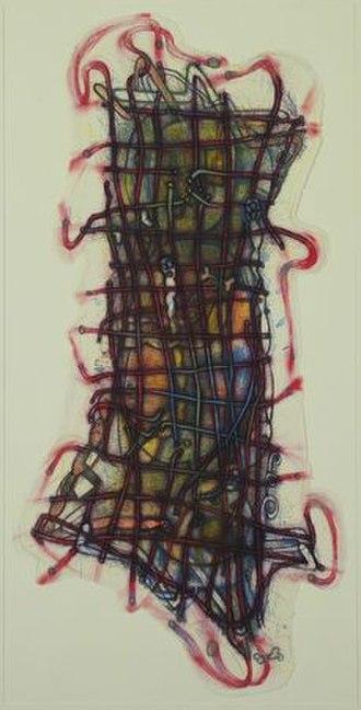 Elizabeth Murray (artist) - Wiggle Manhattan, lithograph, 1992, Museum of Modern Art