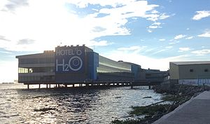 Manila Ocean Park - Side view of the Manila Ocean Park building