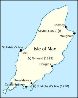 Haraldr Guðrøðarson - Image: Map png crovan dynasty mann
