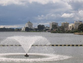 Oakland, California - View of Lake Merritt looking southwest from the northeastern tip of the lake