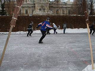 Moscow broomball