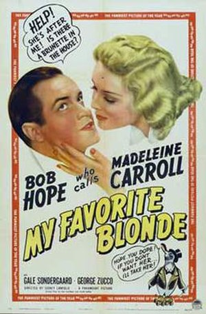 My Favorite Blonde - Image: My Favorite Blonde 1942 Poster