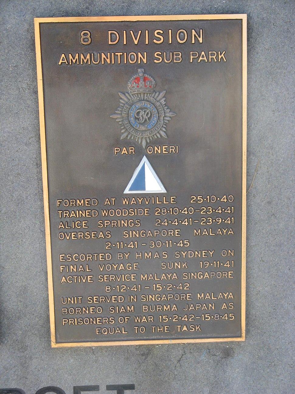 NWMSA-8Div-Ammunition