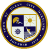 Официальная печать Оушен-Сити, штат Мэриленд