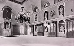 Genoa Conference (1922) - Interior view of the main hall of the Palazzo di San Giorgio, location of plenary meetings of the Genoa Conference of 1922.