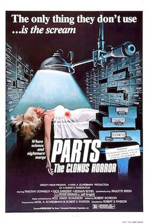 Parts: The Clonus Horror - Theatrical release poster