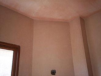 Plaster veneer - Unpainted, tinted plaster veneer.