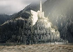 A wide view of Minas Tirith.