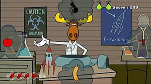 Rocky and Bullwinkle (video game) - Rocky and Bullwinkle gameplay screenshot