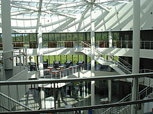 Entrance of Reykjavik University's Nauthólsvík campus (Sun).