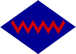Formation patch - The formation patch worn by the 2nd Army Group Royal Canadian Artillery, a component of II Canadian Corps.