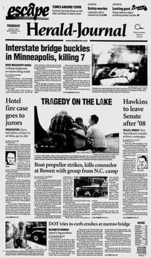 Spartanburg Herald-Journal - Image: Spartanburg Herald Journal 08 02 2007