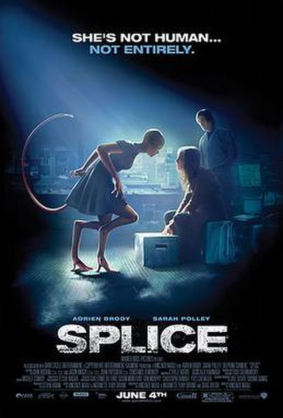 Splice (2009) movie poster