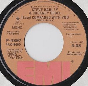 (Love) Compared with You - Image: Steve Harley (Love) Compared With You 1976 USA Single