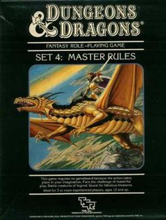<i>Dungeons & Dragons Master Rules</i> book by Frank Mentzer