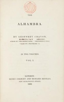 The Alhambra - a series of tales and sketches of the Moors and Spaniards (1832 London).jpg
