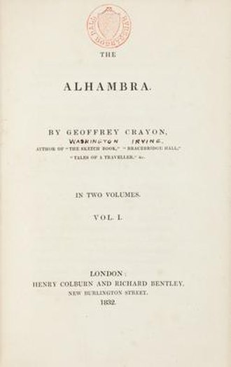 Tales of the Alhambra - Title page of first London edition