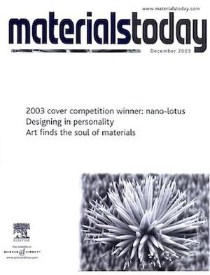 Materials Today - Image: The Cover of Materials Today in DEC 2003