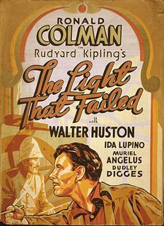 <i>The Light That Failed</i> (1939 film) 1939 film by William A. Wellman
