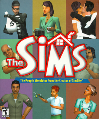 The Sims (video game) - North American cover art (2001 version)