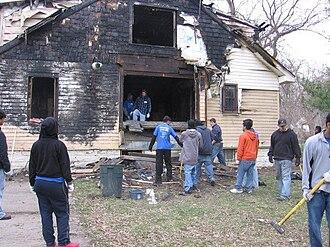 The Detroit Partnership - A DP Day clean-up/demolition site.