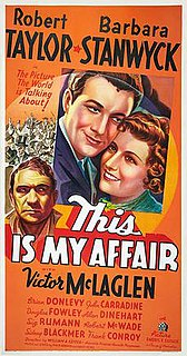 <i>This Is My Affair</i> 1937 film by William A. Seiter