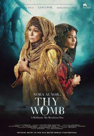 Thy Womb - Theatrical movie poster for the 2012 Metro Manila Film Festival