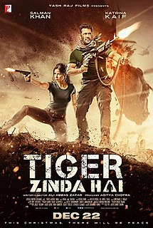<i>Tiger Zinda Hai</i> 2017 Indian film directed by Ali Abbas Zafar