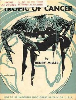 <i>Tropic of Cancer</i> (novel) 1934 novel by Henry Miller