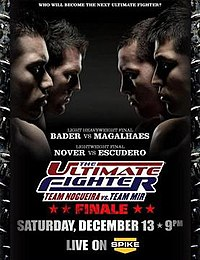 A poster or logo for The Ultimate Fighter: Team Nogueira vs. Team Mir Finale.
