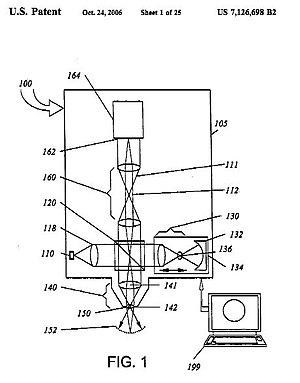 Linnik interferometer - Image: US Patent 7126698 B2