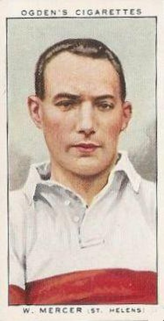 Billy Mercer (rugby league) - Ogden's Cigarette card featuring William Mercer