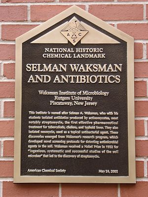 Waksman Institute of Microbiology - Sign at the side entrance of the Waksman Institute