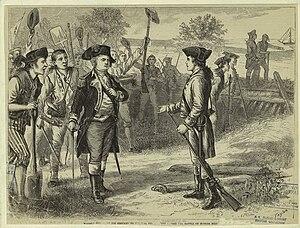 Joseph Warren - Warren (right) offering to serve General Israel Putnam as a private before the Battle of Bunker Hill