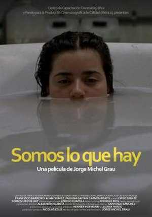 We Are What We Are (2010 film) - Film poster showing the character Sabina (Paulina Gaitán).