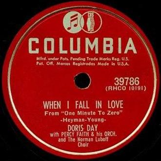 When I Fall in Love - U.S. 78 RPM release of the Doris Day recording