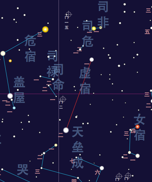 Emptiness (Chinese constellation) - Xū Xiù map