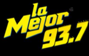 XHAGT-FM - Image: XHAGT La Mejor 93.7 logo