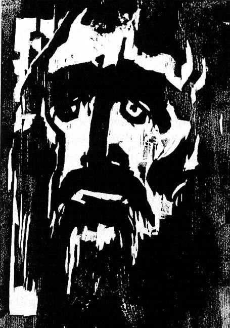'The Prophet', woodcut by Emil Nolde, 1912