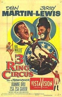 <i>3 Ring Circus</i> 1954 film by Joseph Pevney