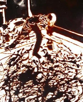 Vik Muniz - Action Photo, After Hans Namuth, 1997