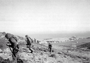 Arzew - U.S. Rangers train on the terrain of the 8 November 1942 assault at Arzew