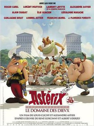 Asterix: The Mansions of the Gods - Theatrical release poster