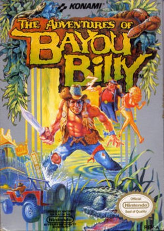 The Adventures of Bayou Billy - North American cover art
