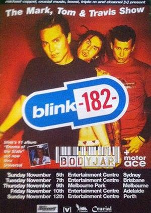 The Mark, Tom and Travis Show Tour - Poster for the planned Australian leg, November 2000