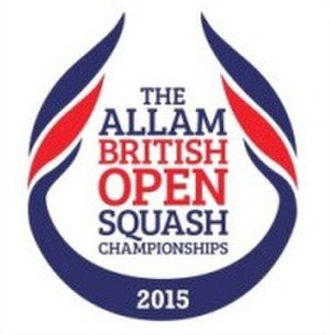 2015 Men's British Open Squash Championship - Image: British Open 2015 Logo