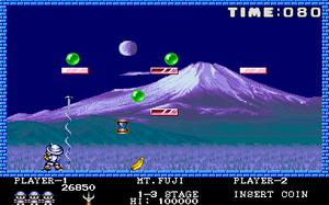 Pang (video game) - Screenshot of Buster Bros.